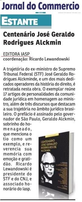 Livro: Centenário José Geraldo Rodrigues de Alckmin