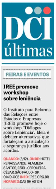 IREE promove workshop sobre leniência