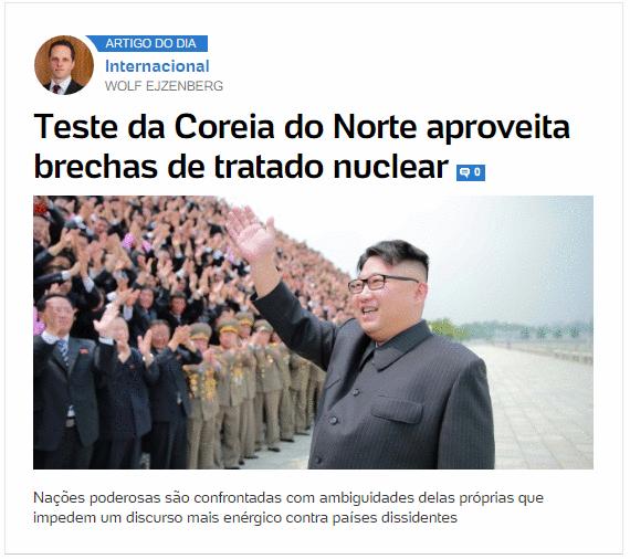 Teste da Coreia do Norte aproveita brechas de tratado nuclear