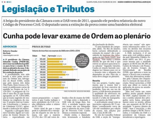 Cunha pode levar exame de Ordem ao plenário