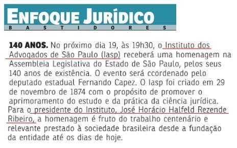 140 anos do IASP