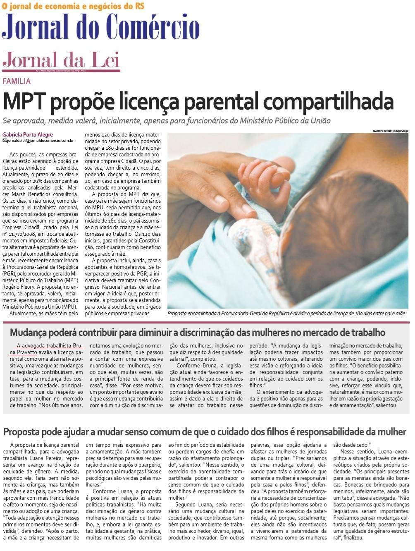 MPT propõe licença parental compartilhada