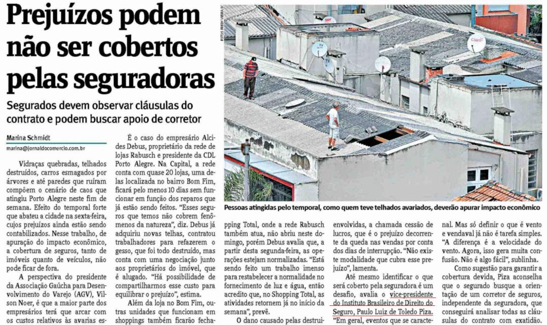 Porto Alegre: Prejuízos com temporal podem não ser cobertos pelas seguradoras