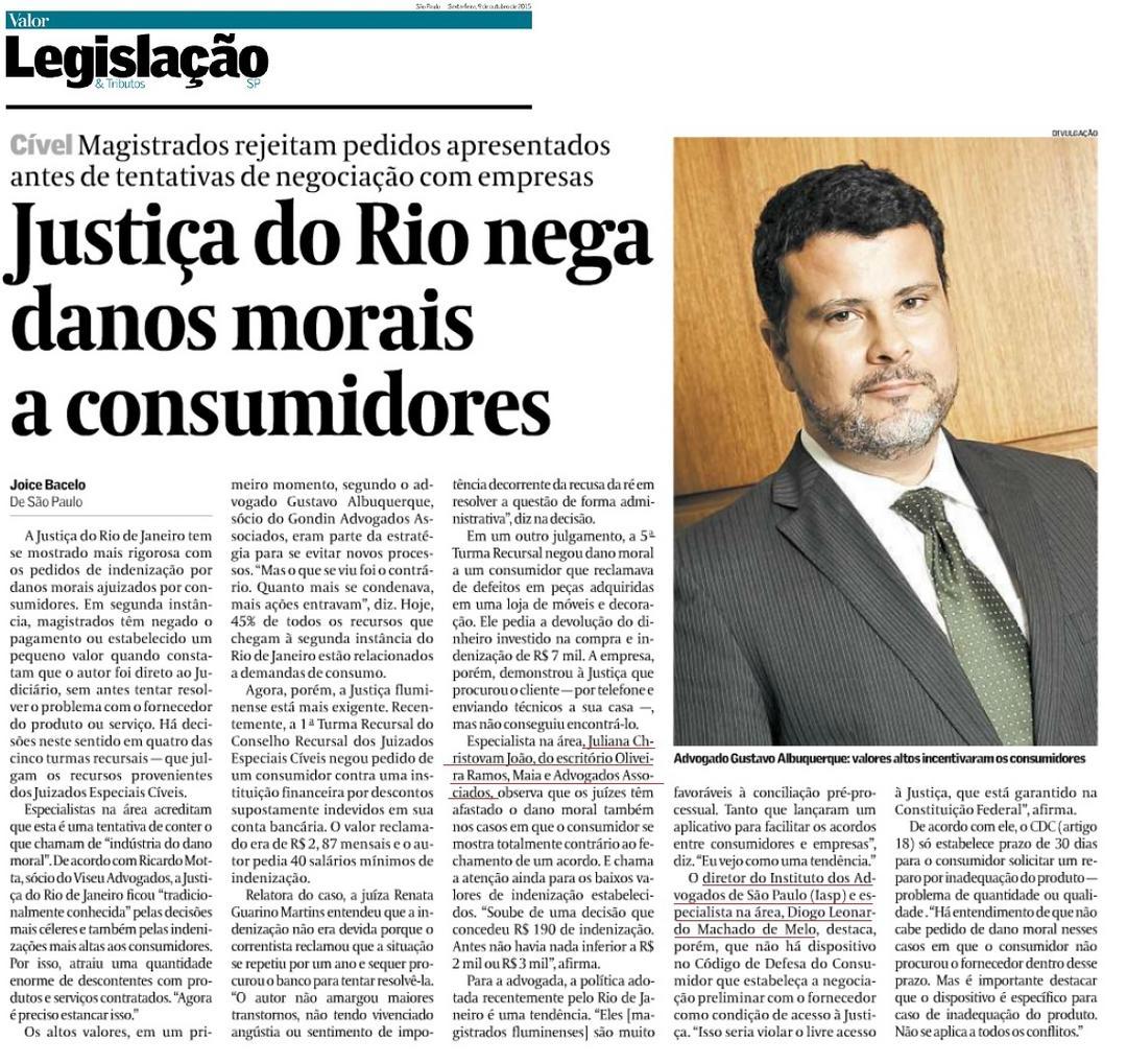 Justiça do Rio nega danos morais a consumidores