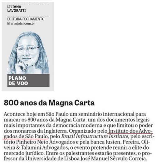 800 anos da Magna Carta