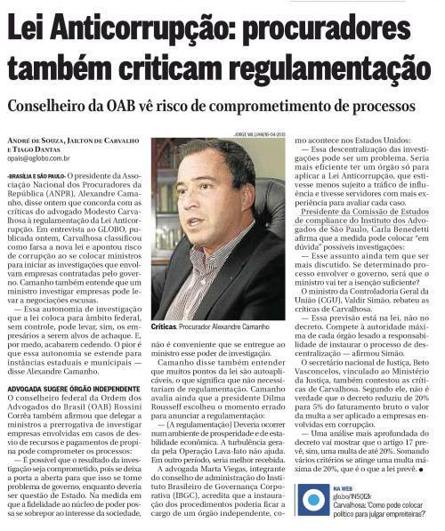 Lei Anticorrupção: procuradores também criticam regulamentação