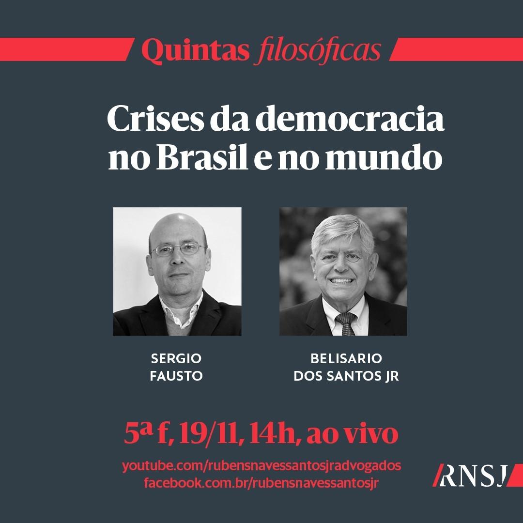 Live: Quintas Filosóficas - Crises da democracia no Brasil e no mundo
