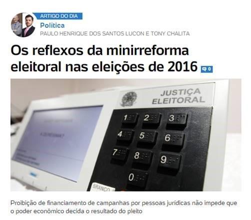 Os reflexos da minirreforma eleitoral nas eleições de 2016