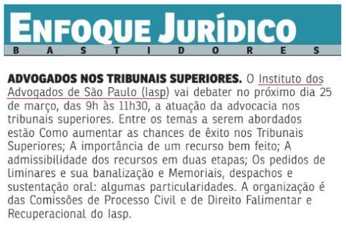 Advogados nos Tribunais Superiores