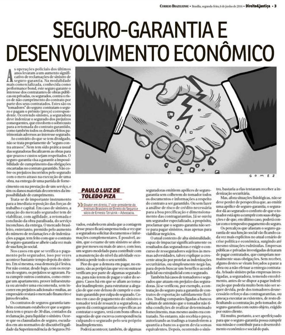 Seguro-garantia e desenvolvimento econômico