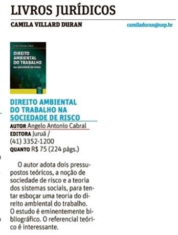 Livros Jurídicos: DIREITO AMBIENTAL DO TRABALHO NA SOCIEDADE DE RISCO