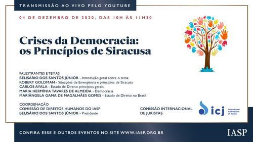 Live: Crises da Democracia: os princípios de Siracusa