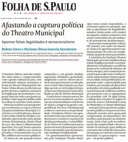 Afastando a captura política do Theatro Municipal