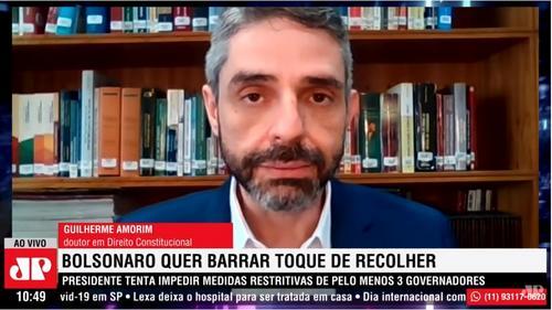 Bolsonaro no STF contra lockdown